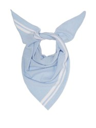 Allude Triangle Knitted Cashmere Scarf Light Blue