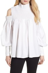 Elliatt Ivy Cold Shoulder Top White Cotton
