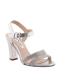 Nina Sylvie Metallic Dress Sandals Silver