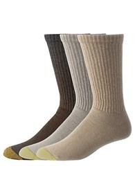 Goldtoe 6 Pack Crew Socks Khaki