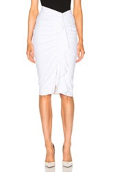 Veronica Beard Drew Cascade Ruffle Pencil Skirt In White