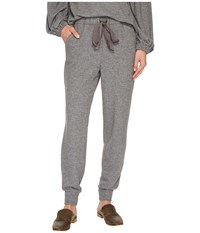 1.State Brushed Jersey Joggers W Satin Tie Pewter Heather Women's Casual Pants Gray