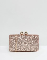 Chi Chi London Glitter Clutch Bag Gold
