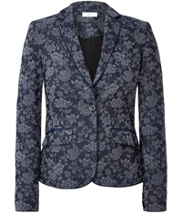 Cc Rose Jacquard Jacket Navy