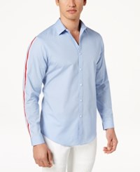 Inc International Concepts I.N.C. Men's Sleeve Striped Shirt Created For Macy's Blue Sunset