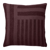 Aytm Contra Striped Glitter Cushion 40X40cm Bordeaux