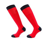 Bruce Field Men's Knee Socks 100 Cotton Lisle Red And Navy