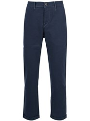 3X1 'M3' Cropped Trousers Blue