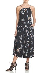 1.State Women's Pleated Culotte Jumpsuit