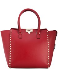 Valentino Garavani Rockstud Trapeze Tote Women Leather Metal Other One Size Red