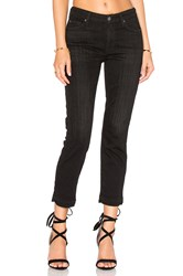 7 For All Mankind Release Hem Straight Ankle Black Sands Broken Twill
