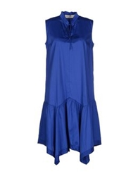 Nine Knee Length Dresses Bright Blue