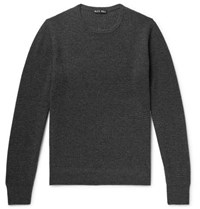 Alex Mill Waffle Knit Merino Wool And Cashmere Blend Sweater Charcoal