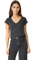 Zadig And Voltaire Round Neck T Shirt Charbonne