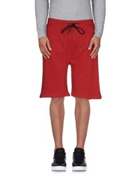 Eleven Paris Trousers Bermuda Shorts Men Maroon