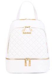 Baldinini Quilted Backpack Women Leather One Size White