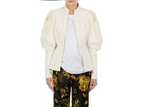 Dries Van Noten Women's Banim Victorian Sleeve Cotton Linen Jacket Ivory