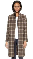 Glamorous Checkered Coat Camel Check
