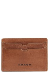 Trask Canyon Leather Card Case Brown Tan