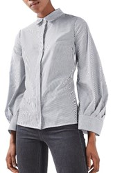 Topshop Women's Extreme Cuff Tie Back Shirt