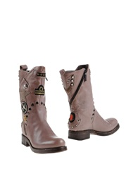 Giancarlo Paoli Ankle Boots Light Brown