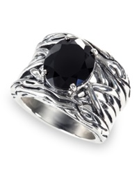 Effy Collection Balissima By Effy Onyx Woven Ring 4 1 3 Ct. T.W. In Sterling Silver