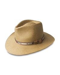 Bailey Of Hollywood Derian Toyo Straw Hat With Patterned Band Burlap