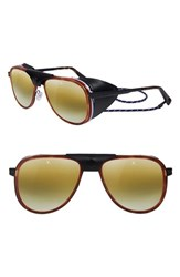 Vuarnet Glacier 57Mm Aviator Sunglasses Tortoise Matt