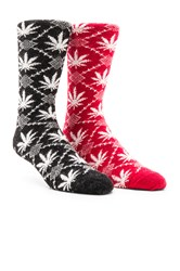 Huf 2 Pack Angora Nordic Socks In Black Angora Nordic Socks Red