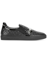 Philipp Plein Quilted Slip On Sneakers Black