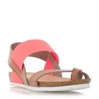 Head Over Heels Laury Elastic Strap Sandals Coral