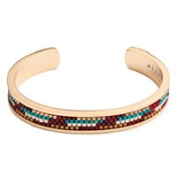 Azuni London Nacona Narrow Bangle In Navajo Gold