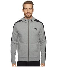 Puma Stretchlite Full Zip Hoodie Medium Gray Heather Men's Sweatshirt