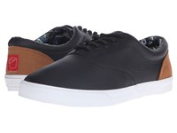 Bucketfeet Pacific Nights Black Leather Men's Lace Up Casual Shoes