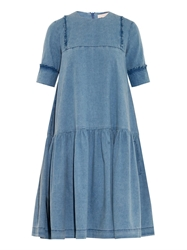Preen Line Savannah Star Embroidered Denim Dress