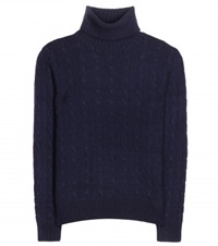Polo Ralph Lauren Wool And Cashmere Blend Sweater Blue