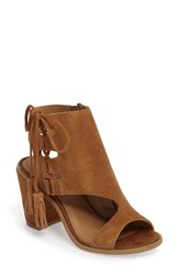 Very Volatile Women's Fastlane Lace Up Sandal Camel Suede