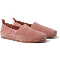 Mulo Suede Loafers Pink