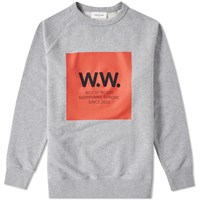 Wood Wood Ww Large Box Hester Sweat Grey