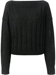 Jean Paul Gaultier Cable Knit Sweater Grey