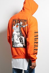 Forever 21 Human Condition Angeles Hoodie Orange Black