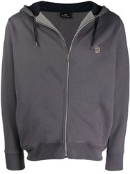 Paul Smith Ps Drawstring Hooded Jacket Grey
