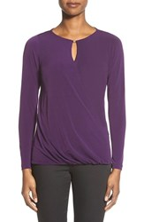 Women's Ivanka Trump Faux Wrap Knit Top With Bead Detail