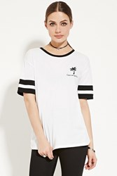 Forever 21 Los Angeles Palm Tree Tee White Black