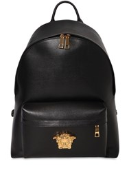 Versace Medusa Logo Leather Backpack Black