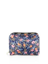 Le Sport Sac Rifle Paper Co. X Lesportsac Extra Large Rectangular Floral Cosmetic Case Rosa