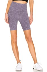 Beyond Yoga High Waisted Biker Short Purple