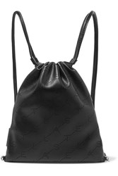 Stella Mccartney Perforated Faux Leather Backpack Black