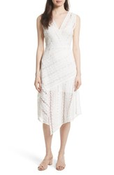 Tracy Reese Women's Lace Midi Dress White