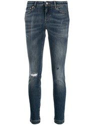 Dolce And Gabbana Skinny Distressed Jeans Blue